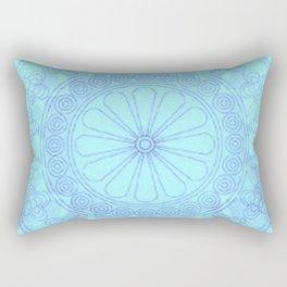 Mandala blue Rectangular Pillow