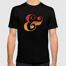 Ampersand Mens Fitted Tee Black SMALL