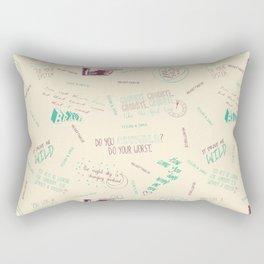Doodlethrob (Tegan and Sara) creme Rectangular Pillow