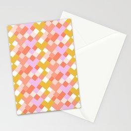 Geometic Summer Pattern Stationery Cards
