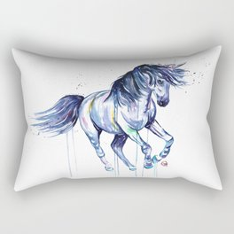 Unicorn - Unicorn Dreams - Colorful Watercolor Unicorn Painting Rectangular Pillow