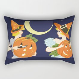 Vintage Halloween Costume Party Pumpkin Carving Rectangular Pillow