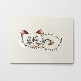 Knot Cat Metal Print
