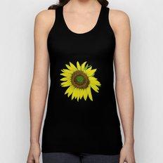 Sunflower painted  Unisex Tank Top