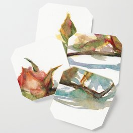 DAILY ROSE PAINTING DAY1412 20190620THU Coaster