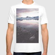 Jokulsarlon Lagoon - Sunset White MEDIUM Mens Fitted Tee
