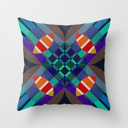 Dyrnwch - Colorful Abstract Art Throw Pillow