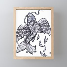 Flying Fish Framed Mini Art Print