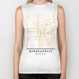 MINNEAPOLIS MINNESOTA CITY STREET MAP ART Biker Tank