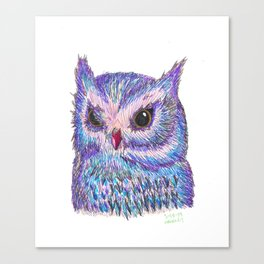 Tropical Owl Canvas Print