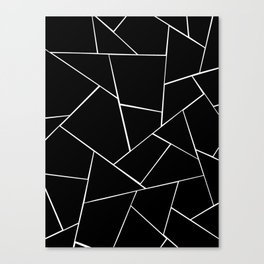 Black White Geometric Glam #2 #geo #decor #art #society6 Canvas Print