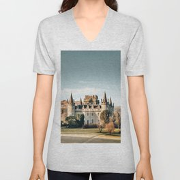castle in scotland Unisex V-Neck