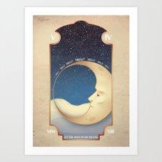 ...In My Moon Art Print