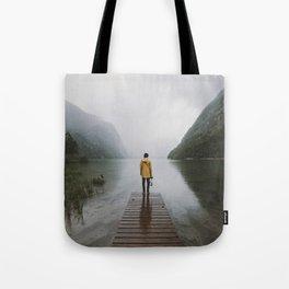 Mountain Lake Vibes - Landscape Photography Tote Bag