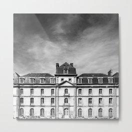 Hermine Castle Monochrome Metal Print