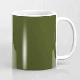 CHIVE dark green solid color Coffee Mug