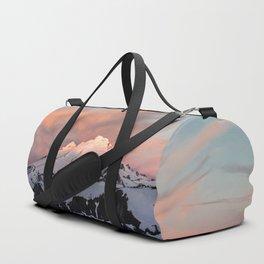 Mount Baker Mountain Adventure Sunset - Nature Photography Duffle Bag