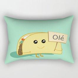 Happy Taco, Olé Rectangular Pillow