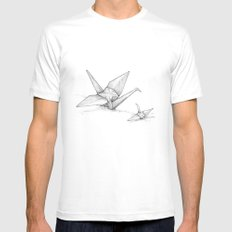 Paper Cranes Mens Fitted Tee MEDIUM White