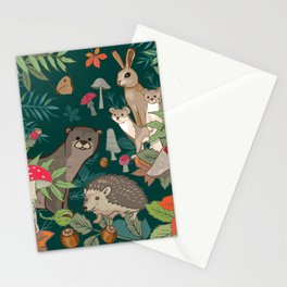 Animals In The Woods Stationery Cards