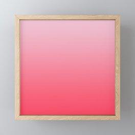 Ombre Pink Rose Gradient Pattern Framed Mini Art Print