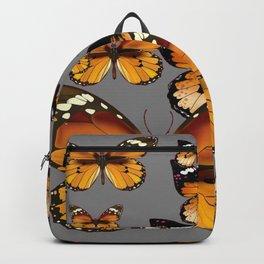 DECORATIVE BUTTERSCOTCH & TOFFEE BROWN BUTTERFLIES ART Backpack