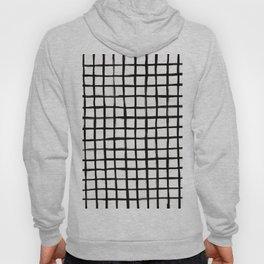 Strokes Grid - Black on Off White Hoody