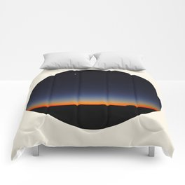 Orange & Blue Sunset Over The Australian Outback Round Photo Comforters