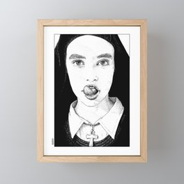 asc 228 - La Pureté (Purity is for madmen to make fools of us all) Framed Mini Art Print