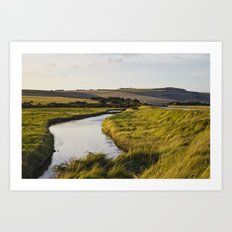 Cuckmere river Art Print