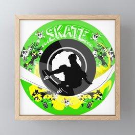 Skate wheels Punk Framed Mini Art Print