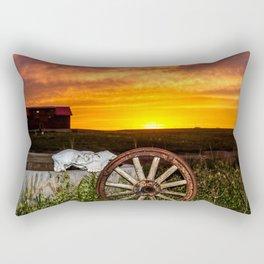 Wyoming Sunset Rectangular Pillow