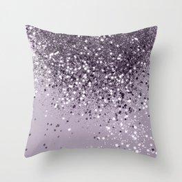 Sparkling Lavender Lady Glitter #2 #shiny #decor #art #society6 Throw Pillow