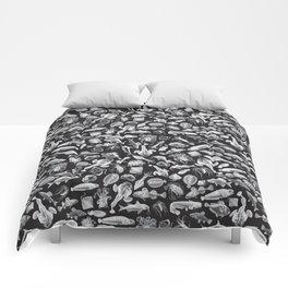 Aquatic I: White on Black Comforters
