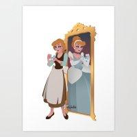 Cinderella - Peasant Servant Dress Art Print