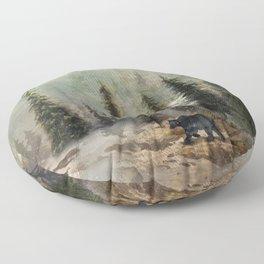 Mountain Black Bear Floor Pillow