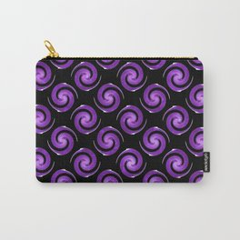 Purple Spirals Pattern Carry-All Pouch