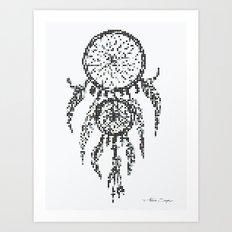 Dreamcatcher Pixel Art Art Print