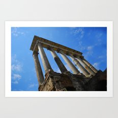 Column of Focas, Roman Forum, Italy Art Print
