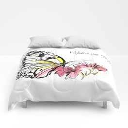 Malabar  Tree Nymph Butterfly Comforters
