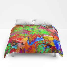 """ Kiwi Lifestyle"" - Pohutukawa NZ Bloom- Pop ART Comforters"