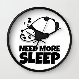 Sleepy Panda Need More Sleep Bear Wildlife Wilderness Lazy Forest Nature Gift Wall Clock