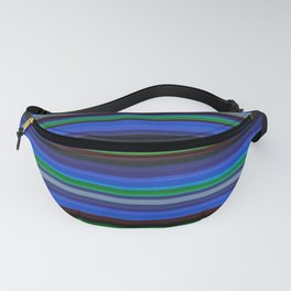 Colored Lines - Blue Fanny Pack