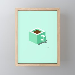 coffee square_ Framed Mini Art Print