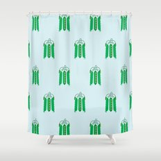 Vegetable: Snap pea Shower Curtain