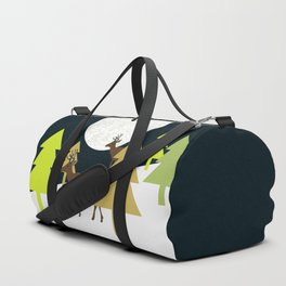 Deer on a hill Duffle Bag