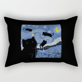 The Starry Cat Night Rectangular Pillow