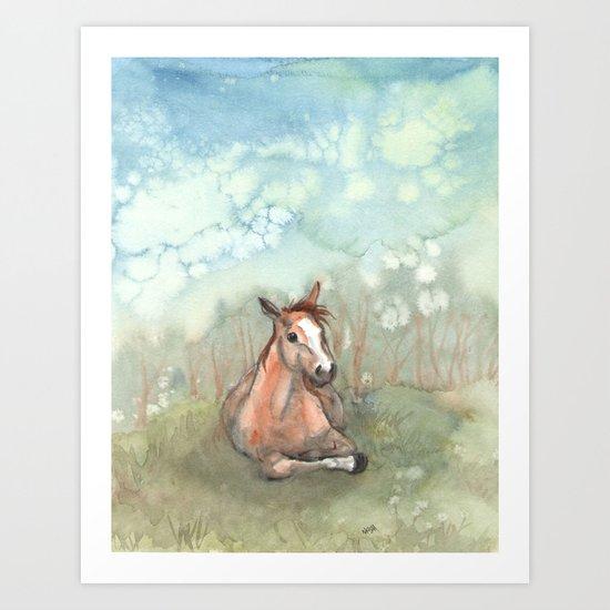 Resting Pony Art Print