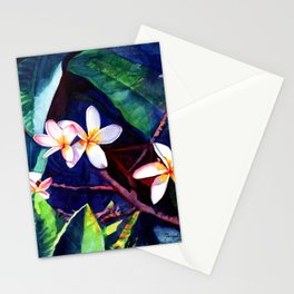 Blooming Plumeria Stationery Cards