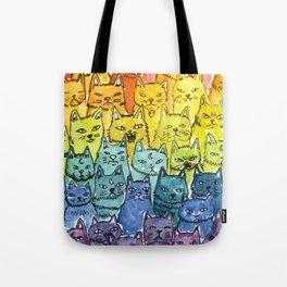 the pride cat rainbow  squad Tote Bag